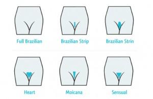 Pubic hair styles