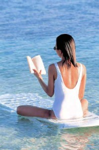 woman on beach stress and lifestyle