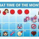 First menstrual calendar