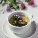 Lime blossom tea with a pinch of skullcap