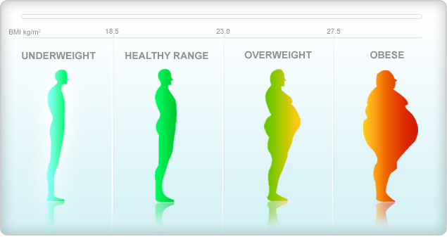 height and weight chart female