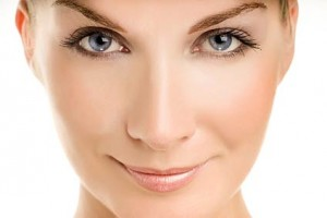Smooth face skin after hair removal