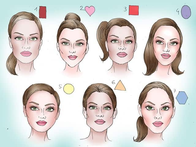 Face shape and hair style